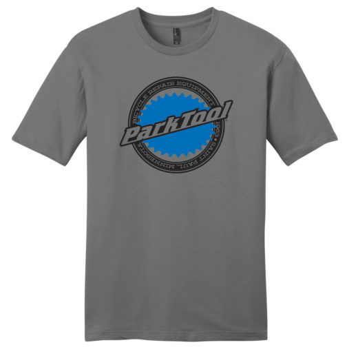 Front of gray Park Tool Logo shirt, click to enlarge