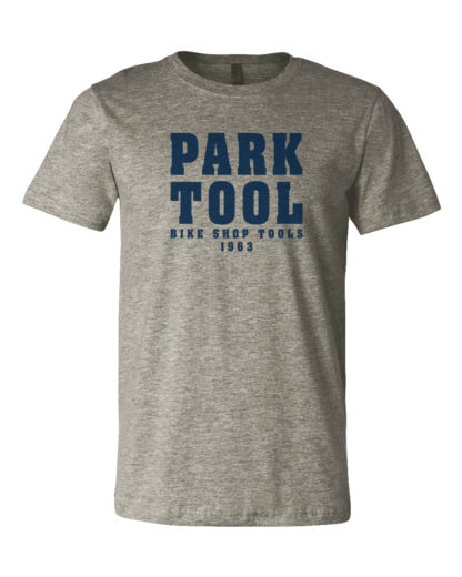 Park Tool TSP-1 Heather Gray T-Shirt, click to enlarge