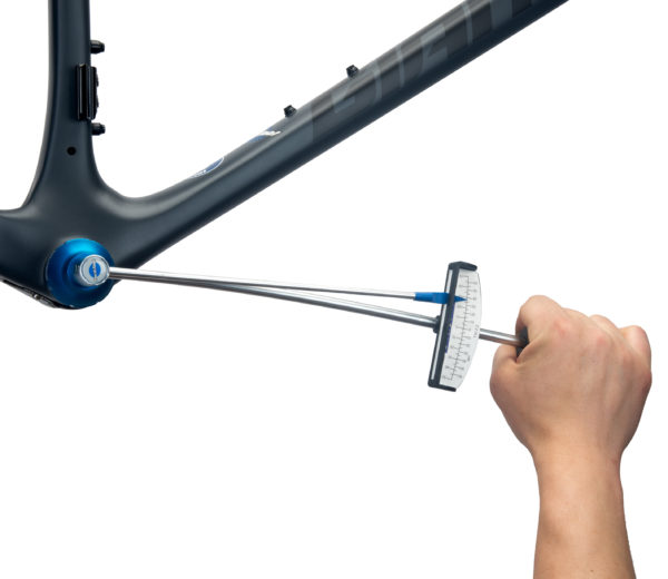 The Park Tool TW-2.2 Beam-Type Torque Wrench driving a Park Tool bottom bracket tool, click to enlarge