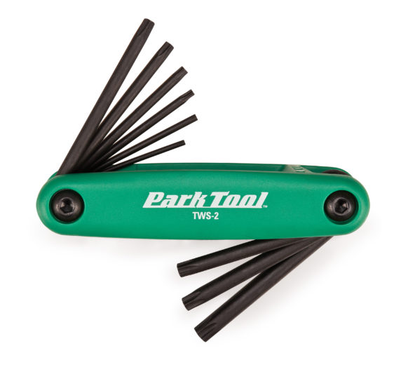 The Park Tool TWS-2 Fold-Up Torx® Compatible Wrench Set, click to enlarge