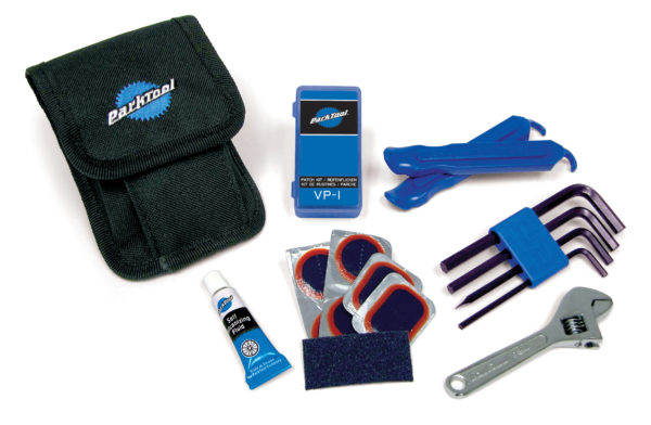 Contents of the Park Tool WTK-1 Essential Tool Kit, click to enlarge