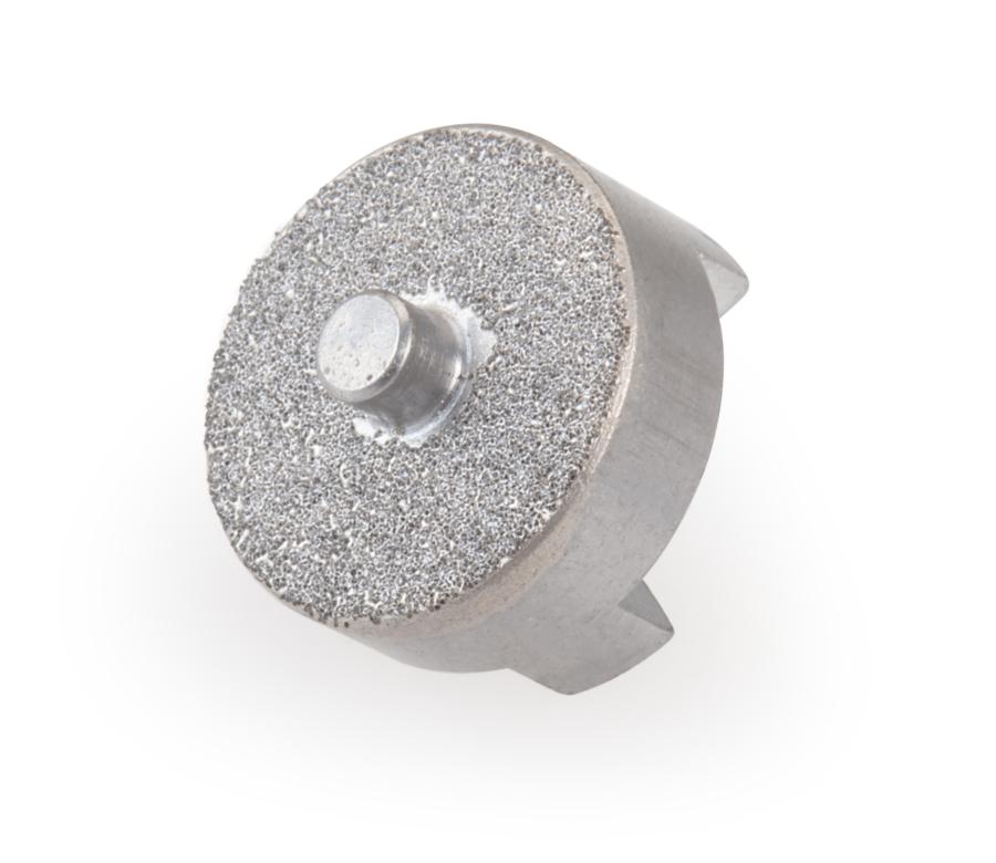 Abrasive side of the Park Tool 2197 DT-5 / DT-5.2 Diamond Abrasive Adaptor for Carbon Fiber, enlarged