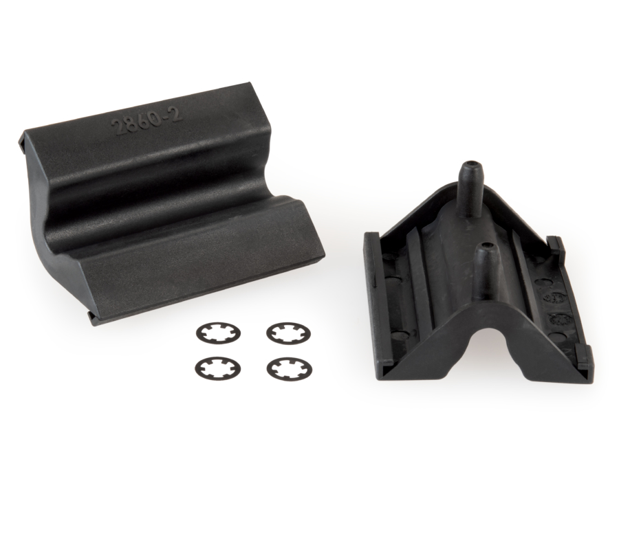 The Park Tool 2860 Replacement Jaw Covers with included circlips, enlarged