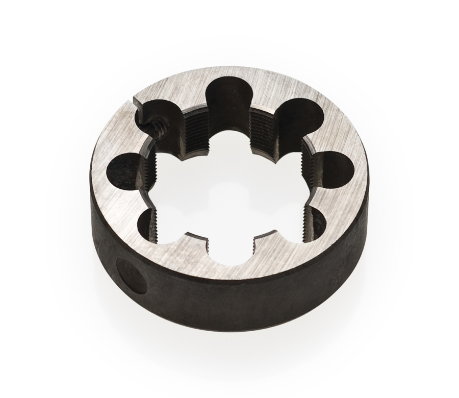 "Black round circle Park Tool 608 1-1/4"" cutting die tool, enlarged"
