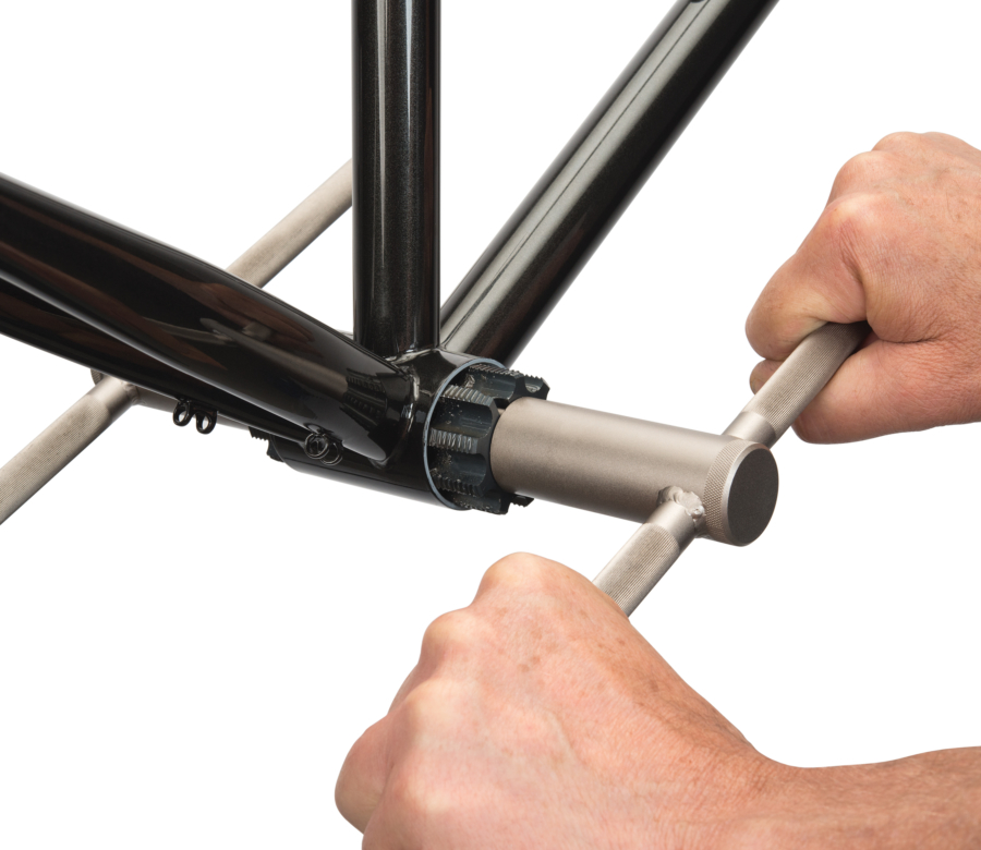 The Park Tool 647L Left Hand Threaded T47 Tap used with BTS-1 to tap T47 bottom bracket, enlarged