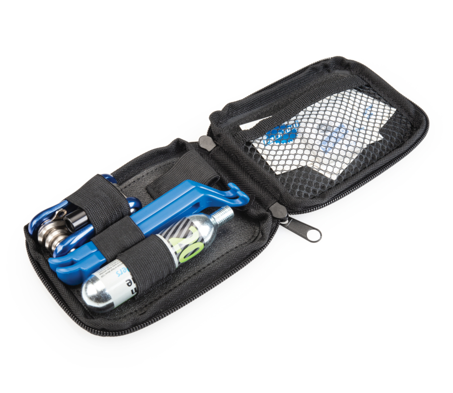 Park Tool 911-7 Zippered Pouch filled with tools, enlarged