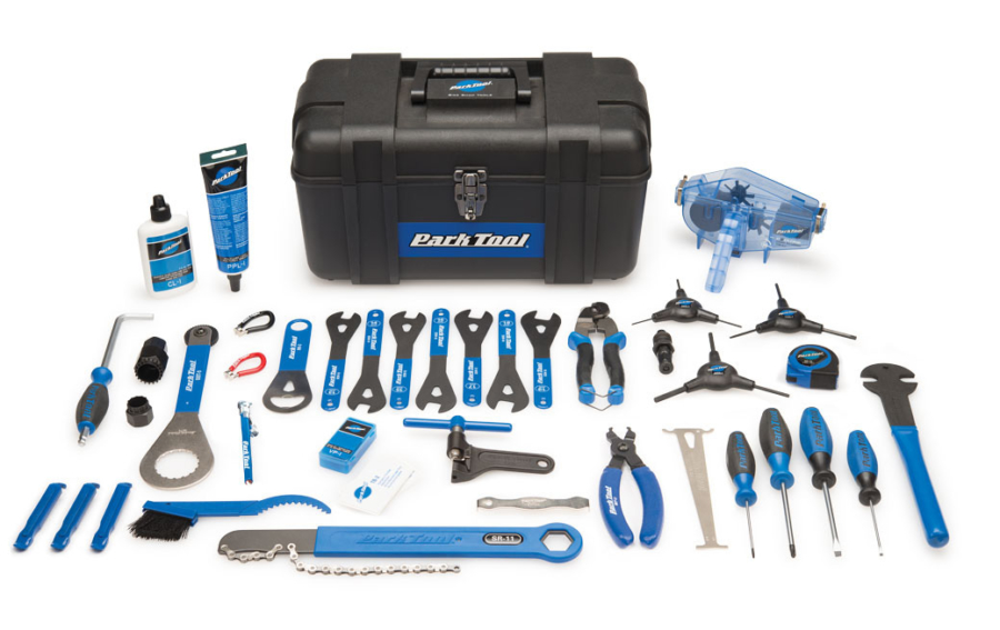 Contents in the Park Tool Ak-40 Advanced Mechanic Tool Kit, enlarged