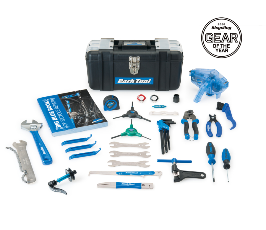 Contents in the Park Tool AK-5 Advanced mechanic tool kit, enlarged