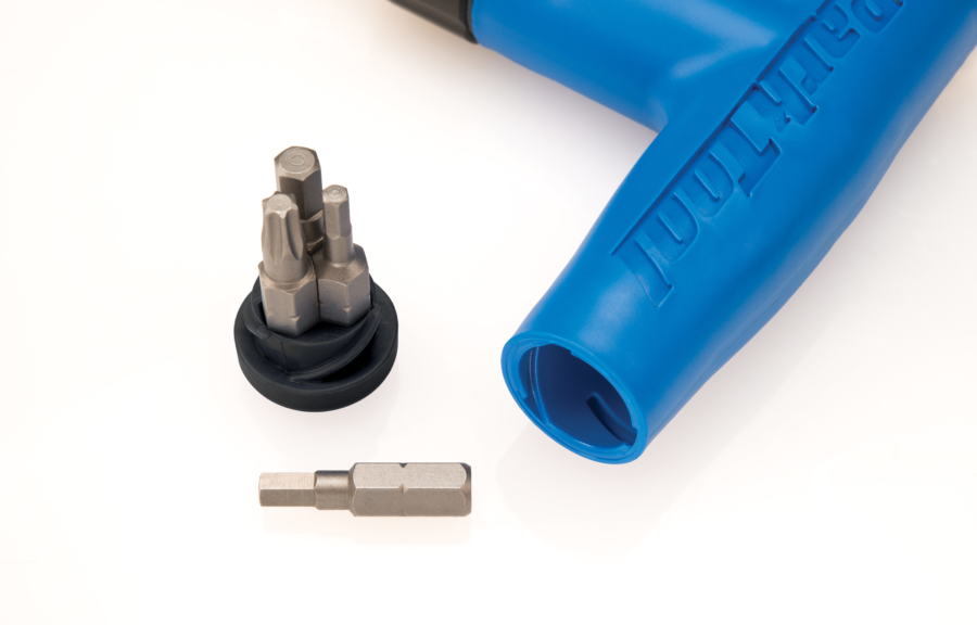 Bit holder cap with contents for the Adjustable Torque Driver, enlarged