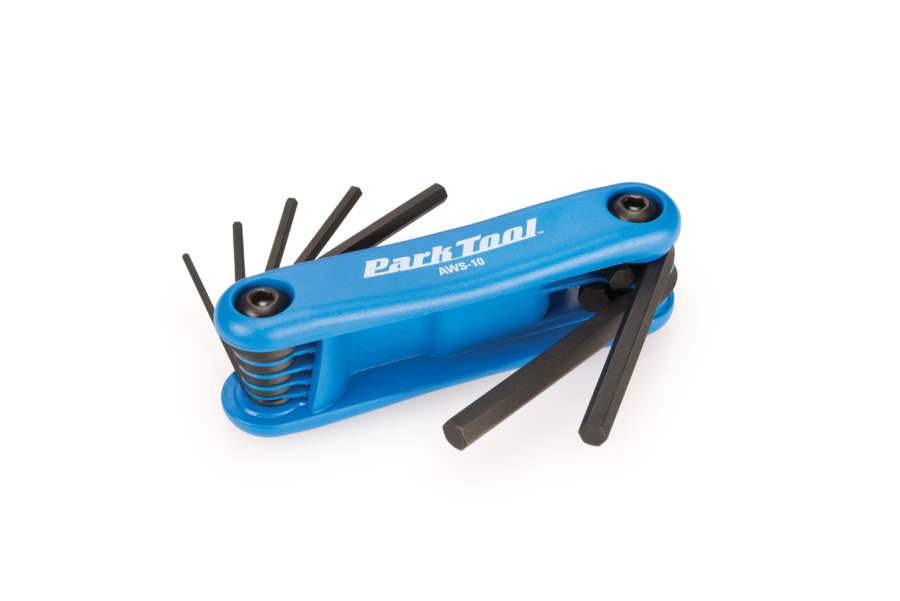 Park Tool AWS-10 Fold-Up Hex Wrench Set, enlarged