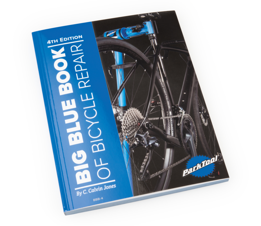 Front cover of The Park Tool BBB-4 Big Blue Book of Bicycle Repair — 4th Edition, enlarged