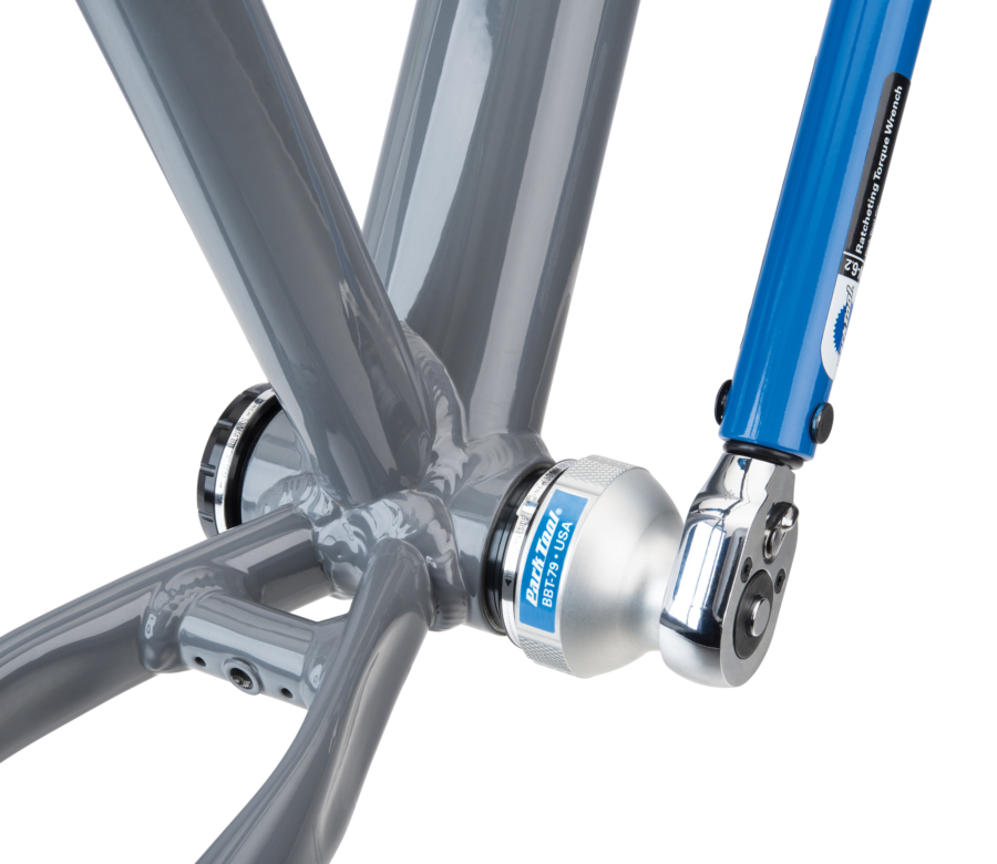 Park Tool BBT-79 Bottom Bracket Tool driven by a torque wrench to install Race Pace® BSH30 bottom bracket, enlarged