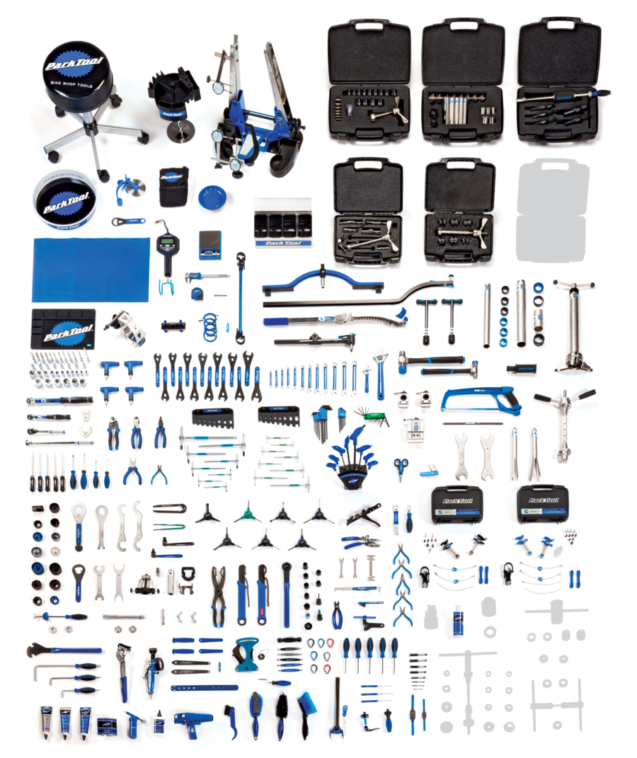 Contents in the Park Tool BMK-14 Base Master Tool Kit, enlarged