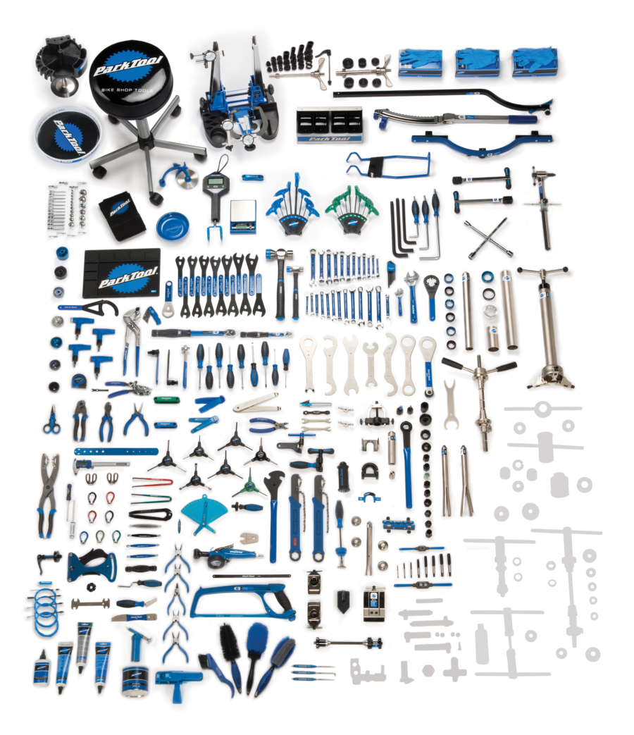 Contents for the Park Tool BMK-264,  Base Master Tool Kit, enlarged