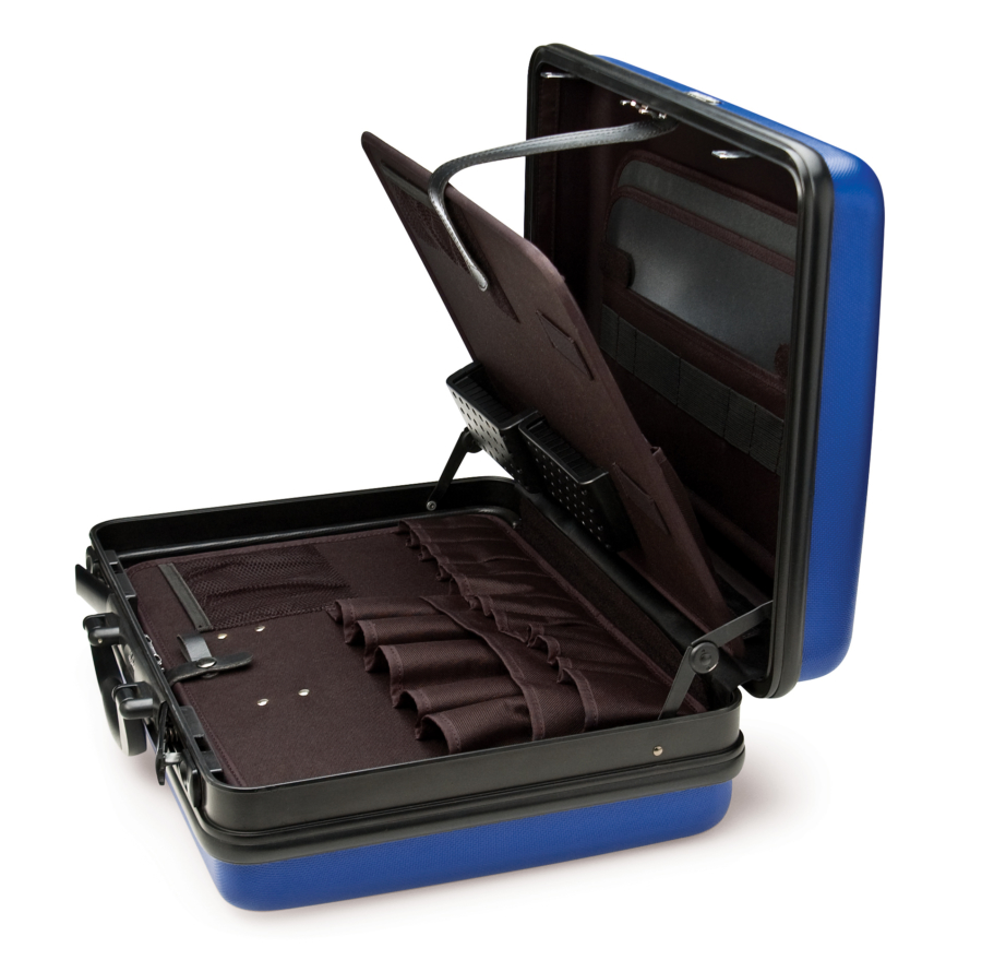 The Park Tool BX-1 Blue Box Tool Case open, enlarged