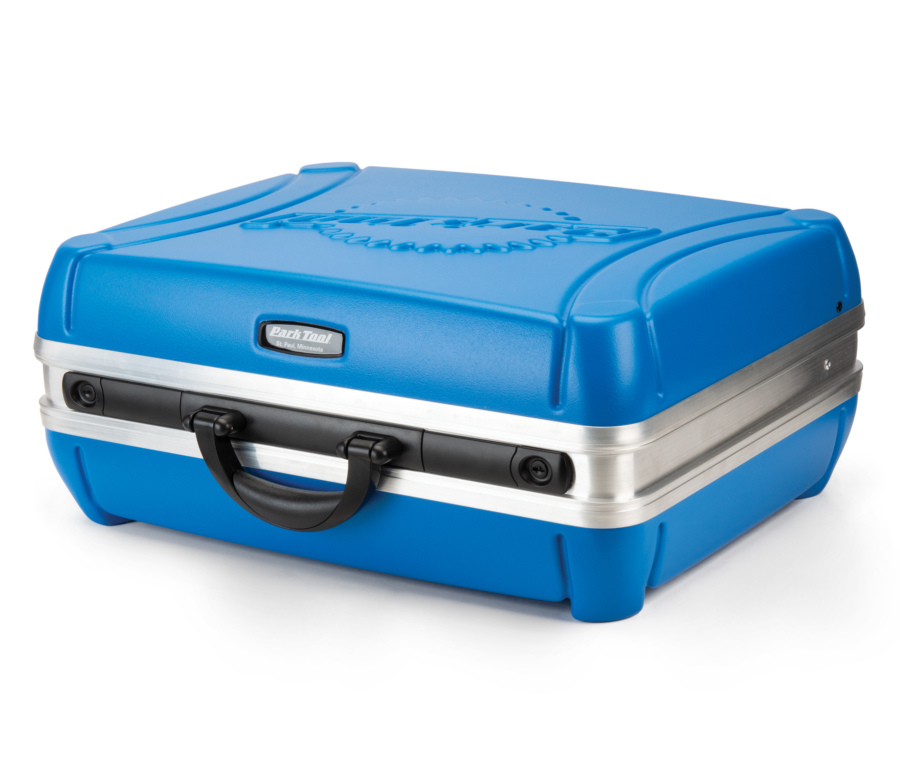 Park Tool Bx-2.2 Blue Box Tool Case on its side, enlarged