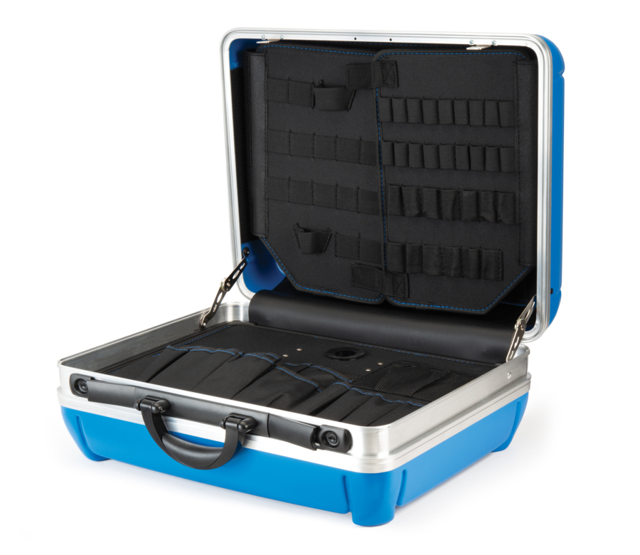 Park Tool Bx-2.2 Blue Box Tool Case open, enlarged