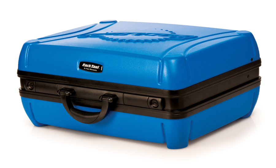 The Park Tool BX-2 Blue Box Tool Case on side, enlarged