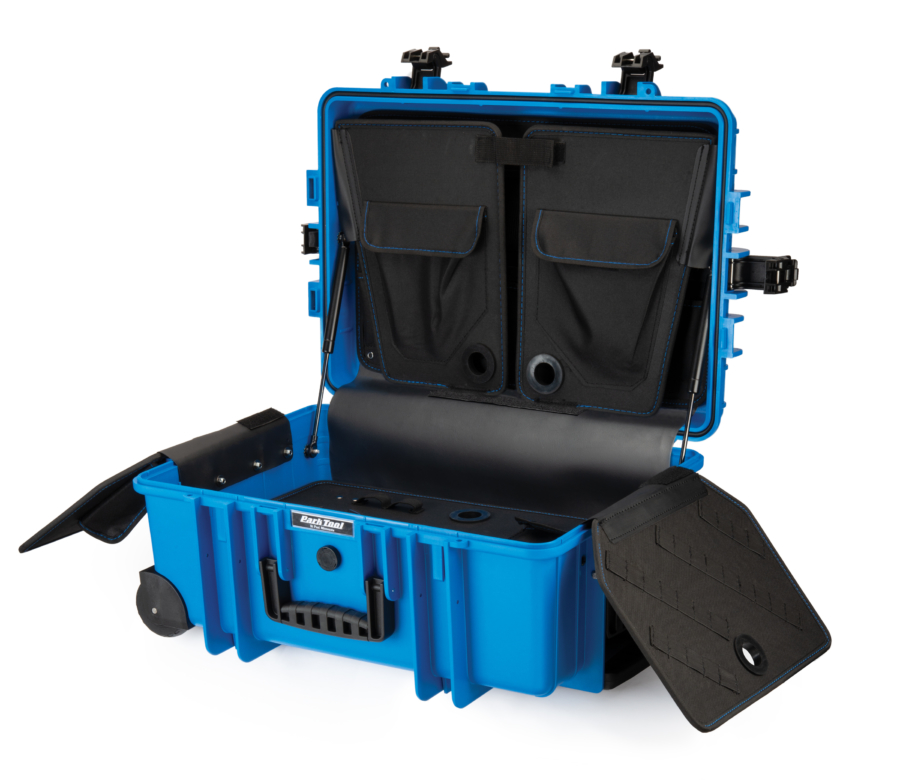 Park Tool BX-3 Rolling Big Blue Box open, enlarged