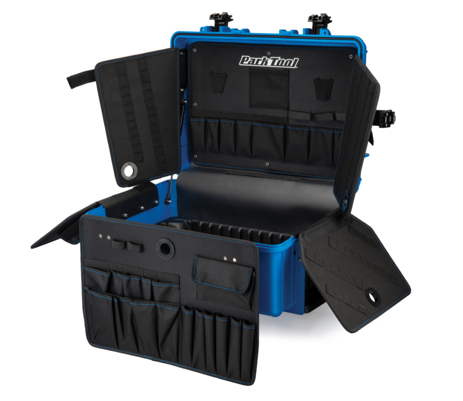Park Tool BX-3 Rolling Big Blue Box open and unfolded, enlarged