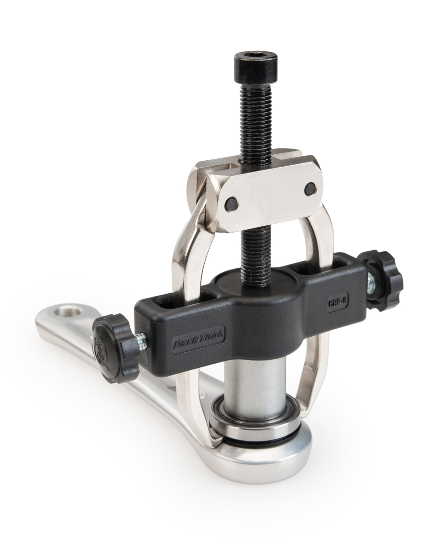 CBP-8 Campagnolo® Crank and Bearing Tool Set pulling non drive side bearing of Ultra-Torque™, enlarged