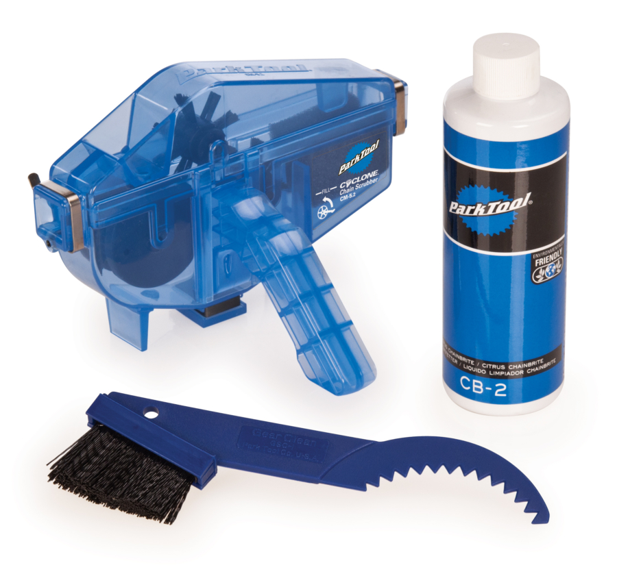 Contents of the Park Tool CG-2.2 Chain Gang Chain Cleaning System, enlarged