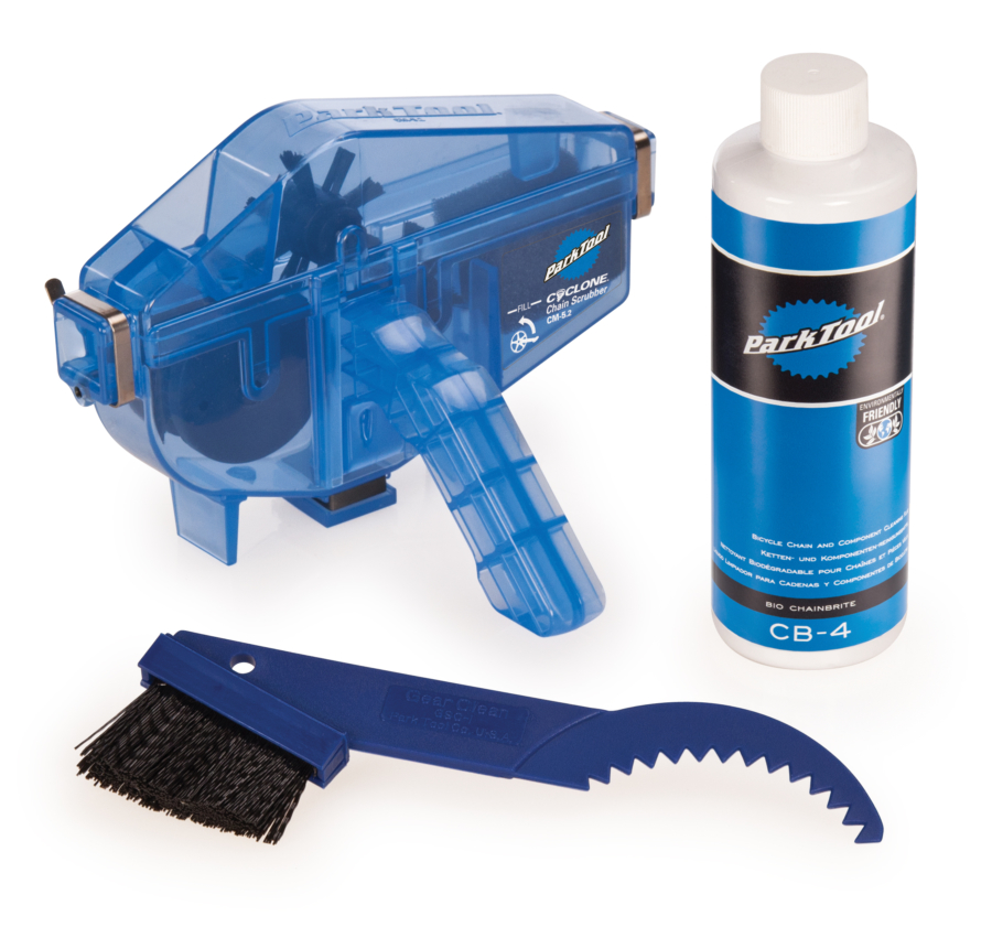 Contents of the Park Tool CG-2.3 Chain Gang Chain Cleaning System, enlarged
