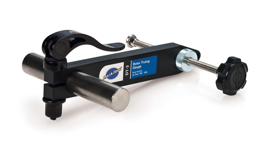 The Park Tool DT-3 Rotor Truing Gauge, enlarged