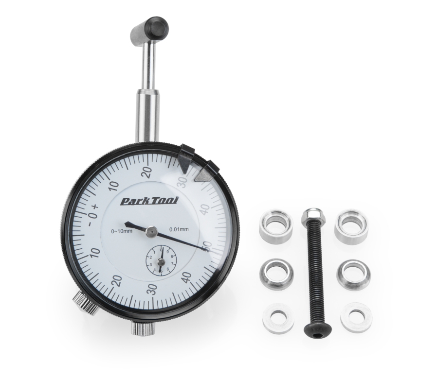 The Park Tool DT03i.2 Dial Indicator for DT-3, enlarged