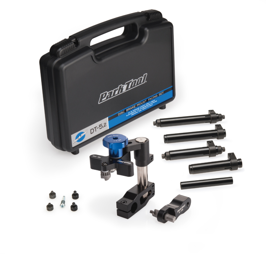Contents in the Park Tool DT-5.2 Disc Brake Mount Facing Set, enlarged