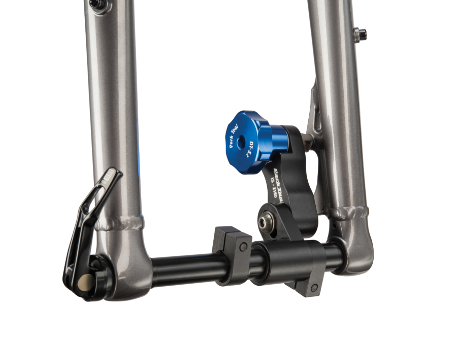 Park Tool DT-5.2, Disc Brake Mount Facing Set used to face IS mounts on fat bike fork, enlarged