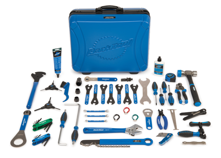 Contents of the Park Tool EK-1 Professional Travel and Event Kit, enlarged