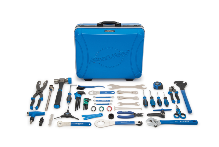 Contents of the Park Tool EK-2, Professional Travel and Event Kit, enlarged