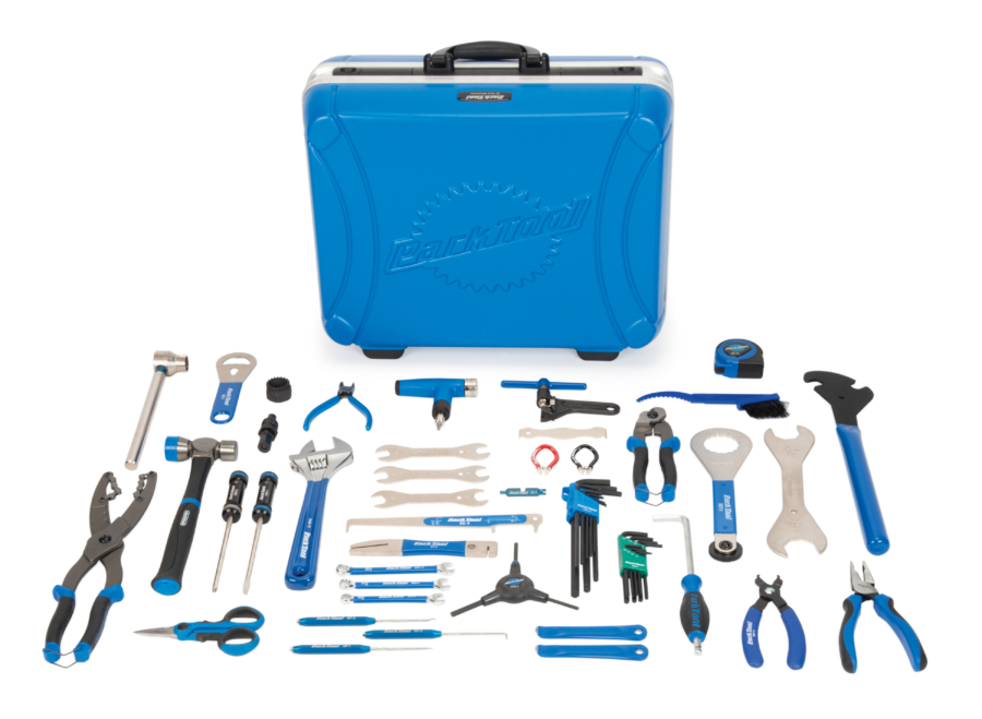 Contents in the EK-3 Park Tool Professional Travel and Event Kit, enlarged