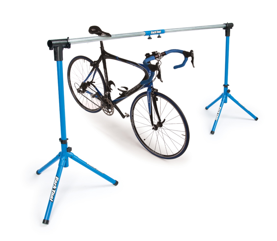 The Park Tool ES-1 Event Stand with bike displayed, enlarged