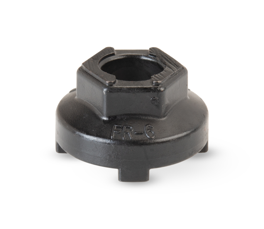 Hex side of Park Tool FR-6 Freewheel Remover, enlarged