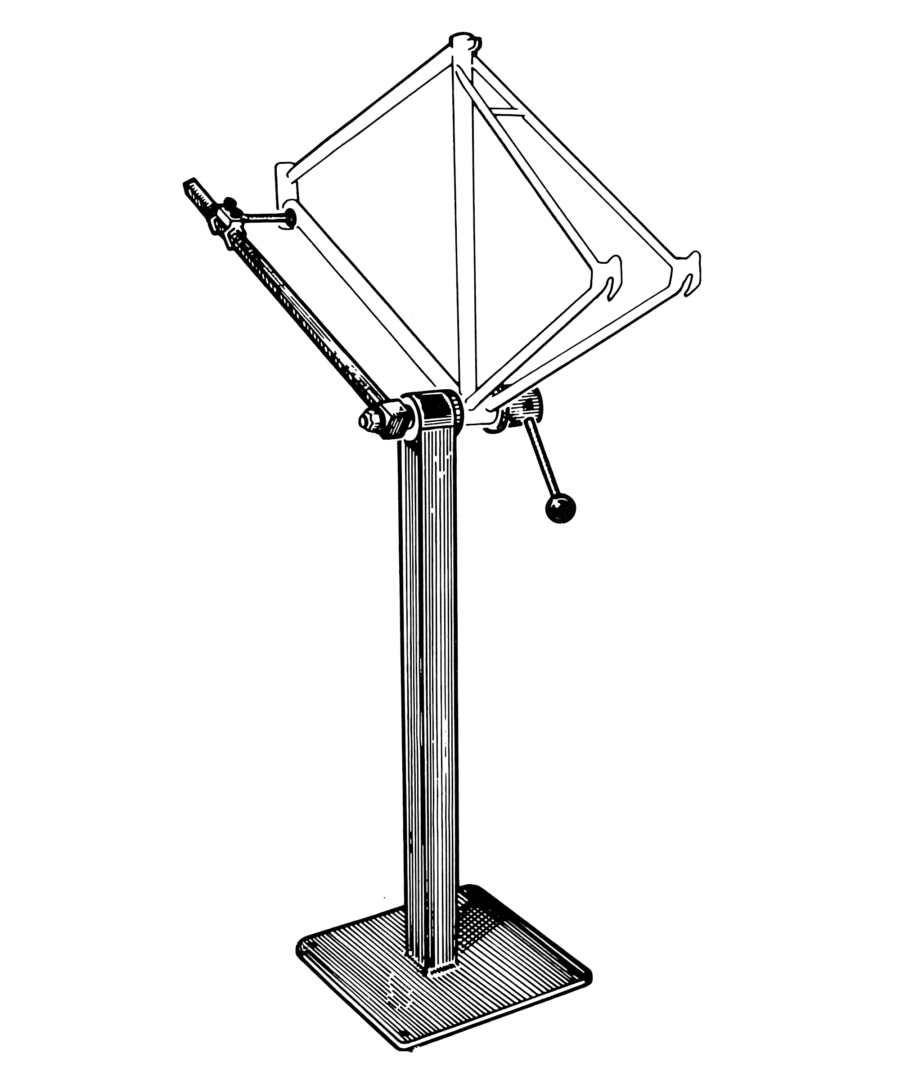 Illustration of FRS-1 Frame Repair Stand, enlarged