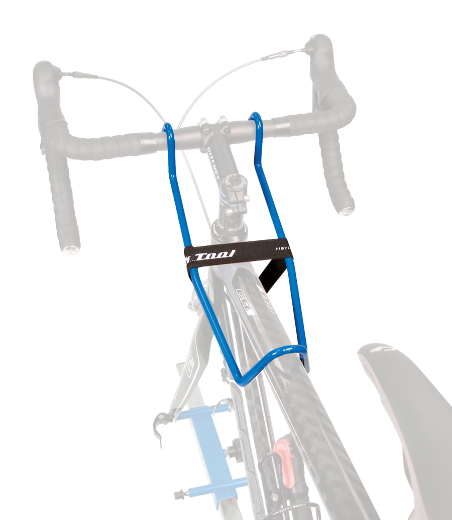 The Park Tool HBH-2 Handlebar Holder in use, enlarged
