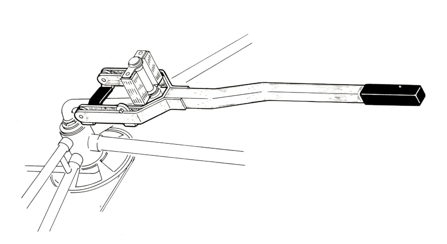 Illustration of HCS-1 Crank Straightener, enlarged