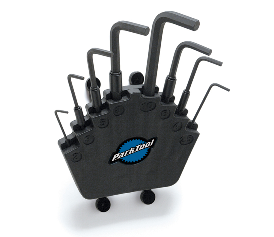 Park Tool HXS-2 L-Shaped Hex Wrench Set with Holder, enlarged