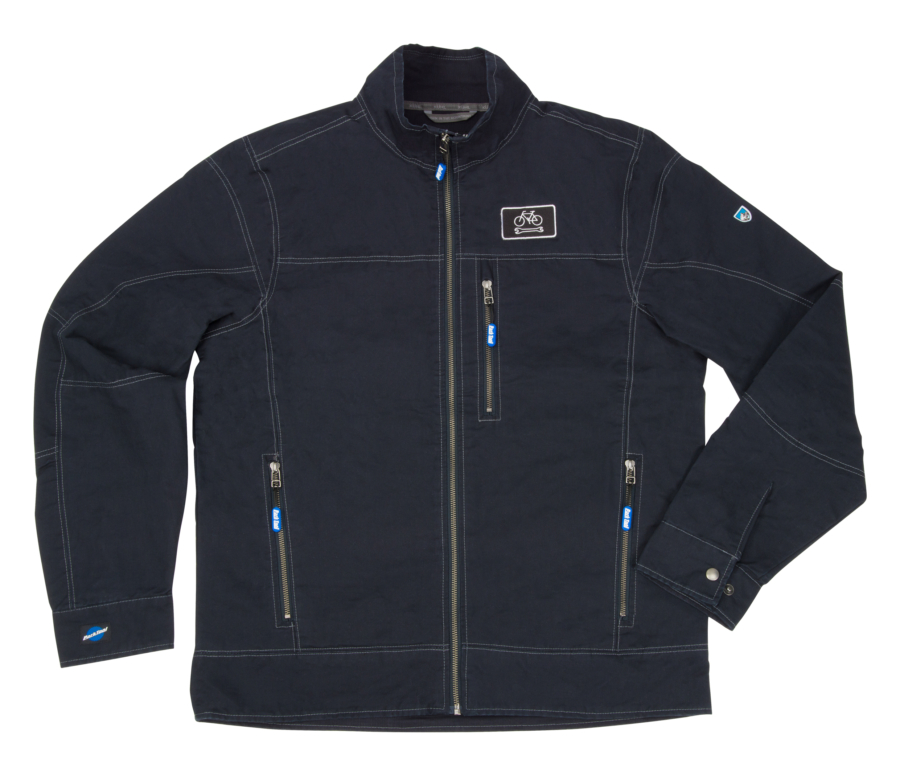 Front of the JKT-2 Limited Edition Mechanic's Jacket in black, enlarged
