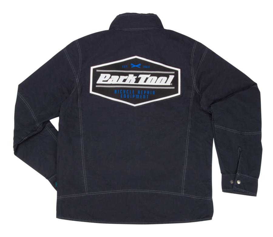 Back of the JKT-2 Limited Edition Mechanic's Jacket in black, enlarged