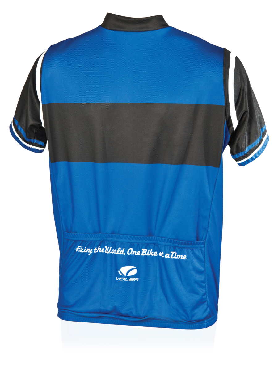 Back of the Park Tool JSY-1 Cycling Jersey, enlarged