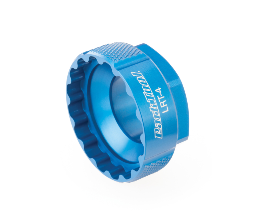 Park Tool's LRT-4, Lockring Tool Shimano Direct Mount on it's side, enlarged