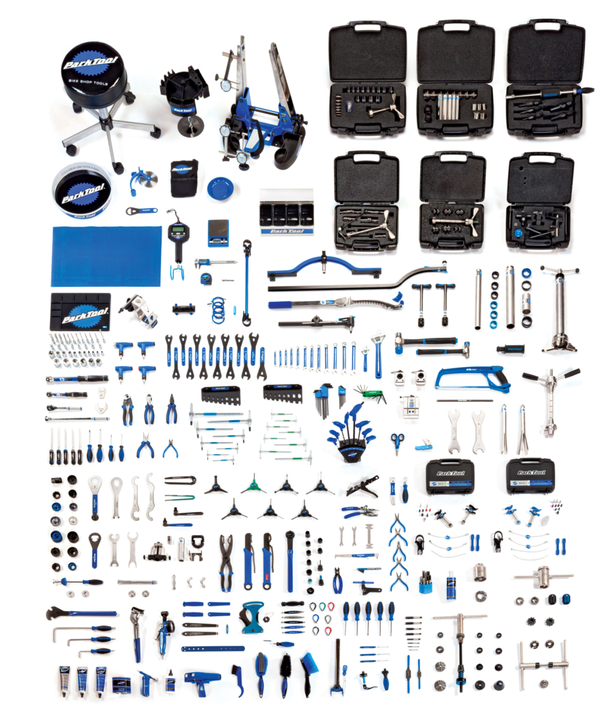 Contents in the Park Tool MK-14 Master Tool Kit, enlarged