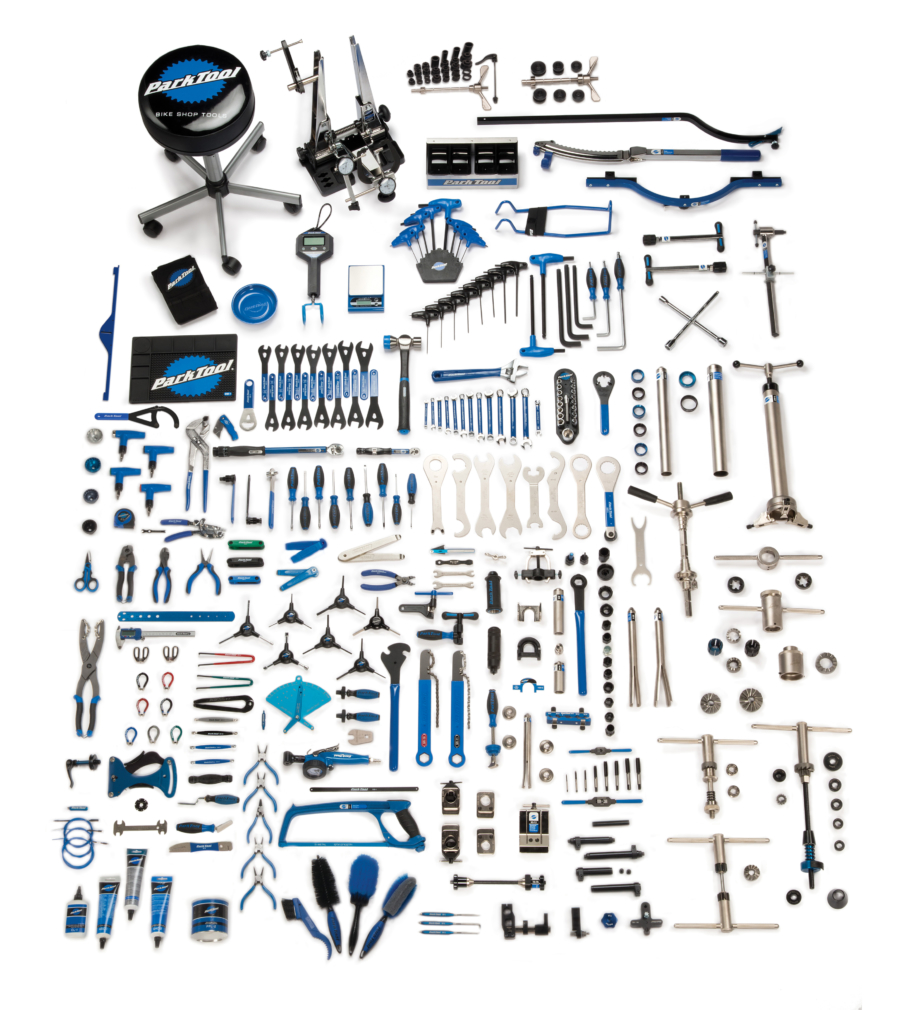Contents in the MK-257 Park Tool Master Tool Kit, enlarged