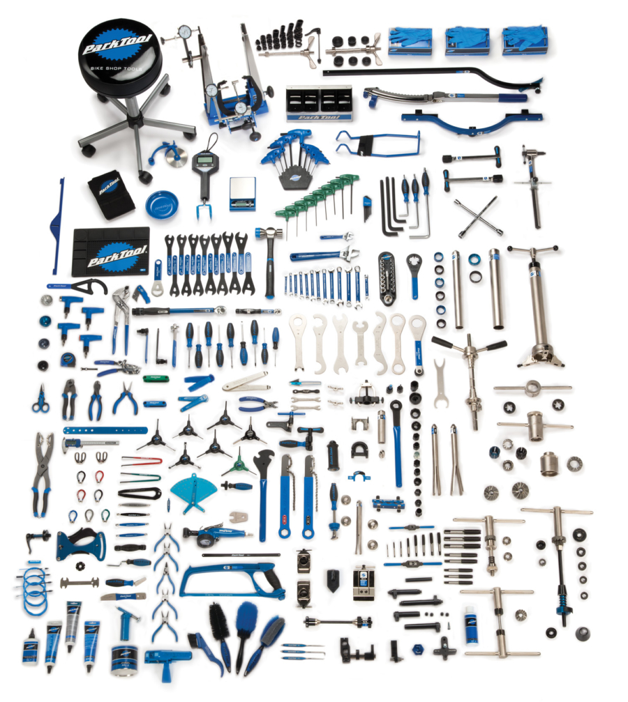 Contents in the Park Tool MK-268 Master Tool Kit, enlarged