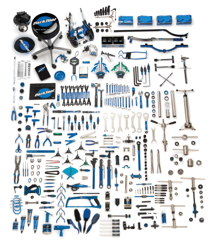 Contents in the MK-297, Park Tool Master Tool Kit, enlarged