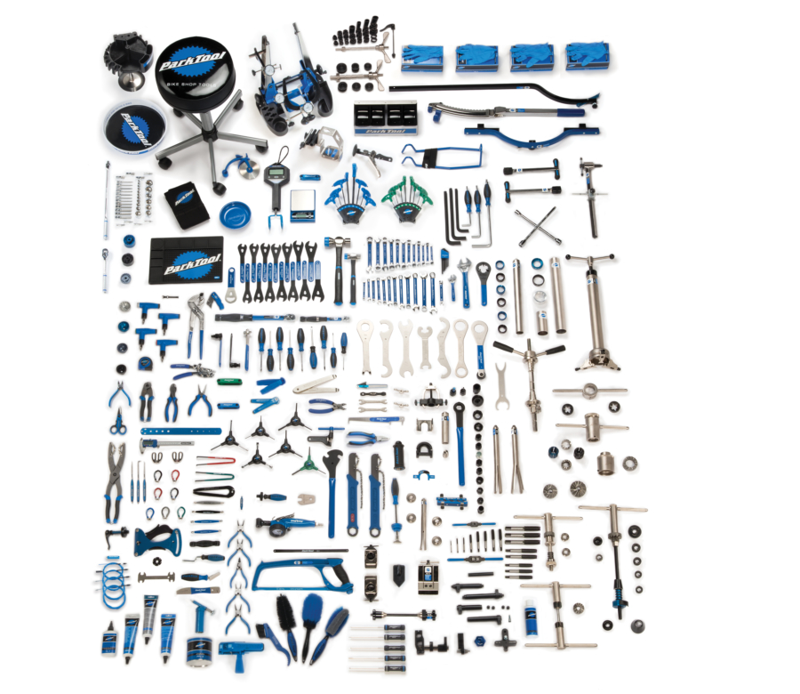 Contents in the Park Tool MK-297 Master Tool Kit, enlarged