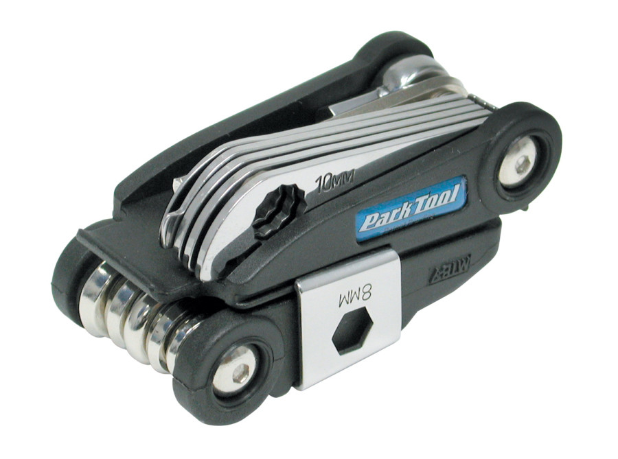 Top of Park Tool MTB-7, Rescue Tool folded, enlarged